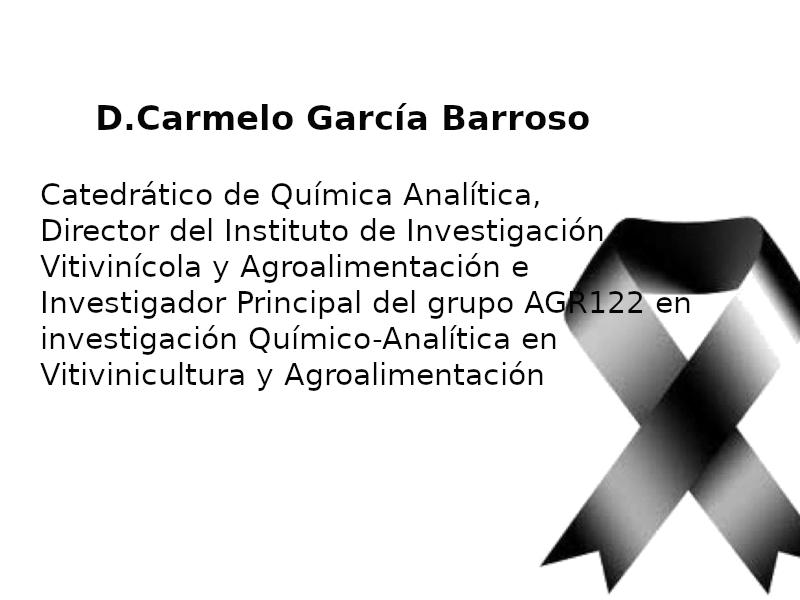IMG Fallecimiento profesor D. Carmelo García Barroso