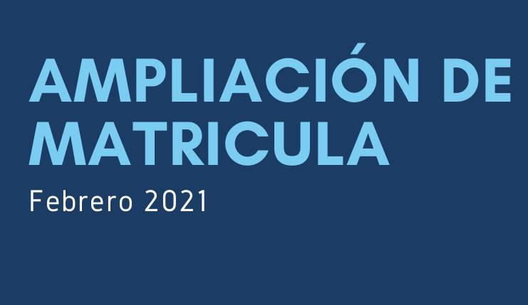 IMG Ampliación de matrícula – febrero 2021