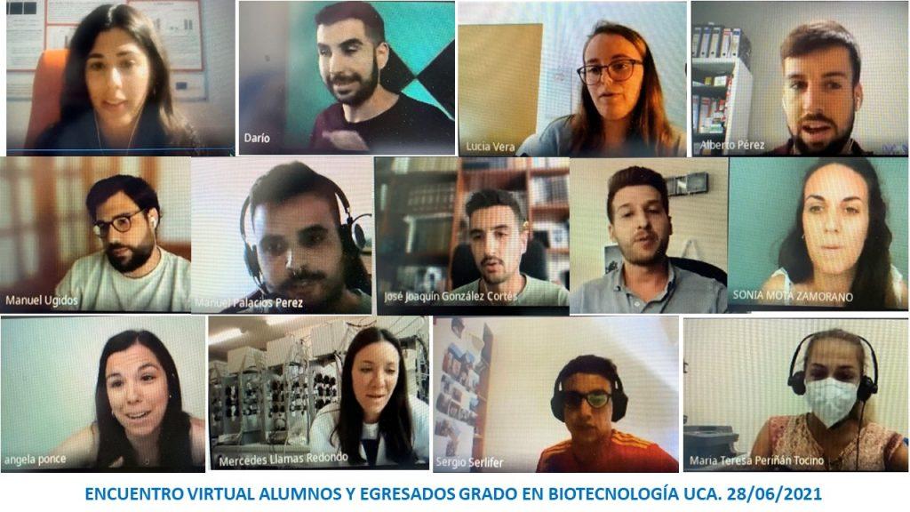 Encuentro virtual Alumnos y Egresados Grado en Biotecnología